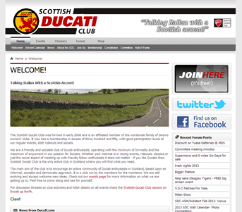 Scottish Ducati Club screenshot