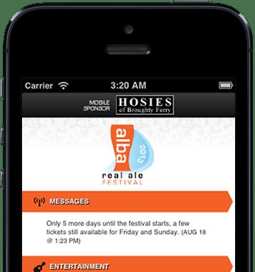 Alba Real Ale Festival Mobile Programme screenshot