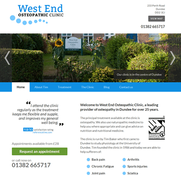 West End Osteopathic Clinic screenshot
