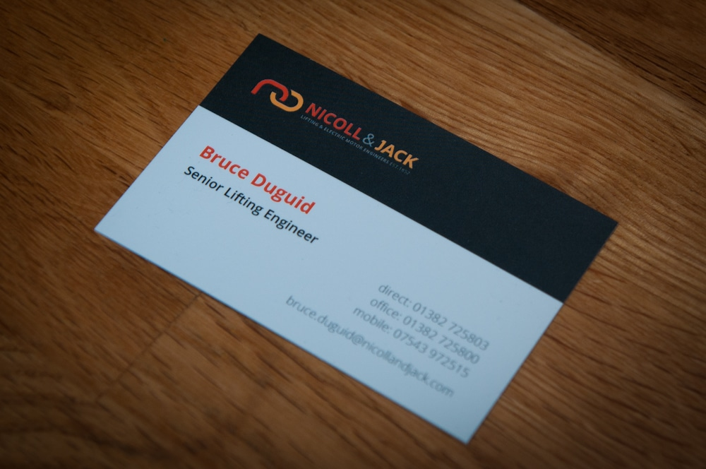 Nicoll & Jack business cards
