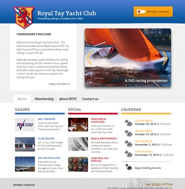 Royal Tay Yacht Club screenshot