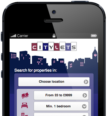Citylets mobile screenshot