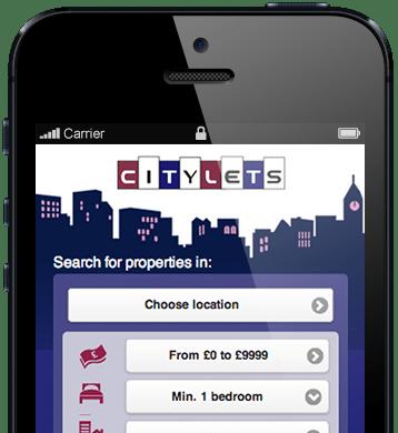 Citylets mobile screenshot