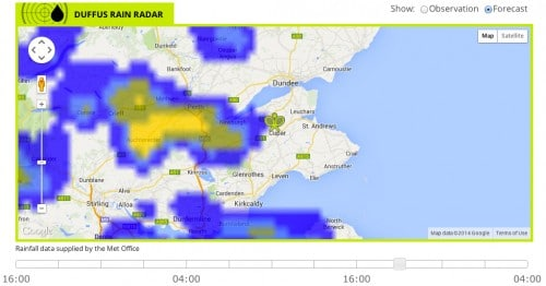 Rain Radar for each club