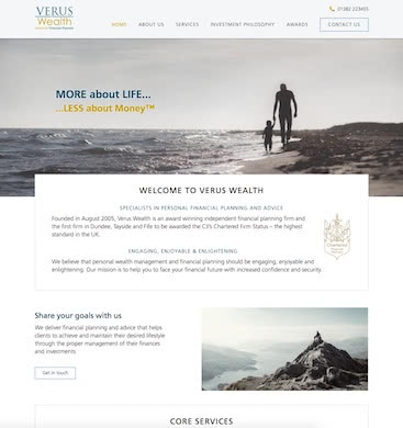 Verus Wealth Management screenshot